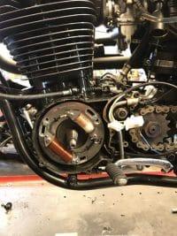 Yamaha XT 500 - Front Brake Lever Stop Switch 1983 500 CC Gold Colour Rims